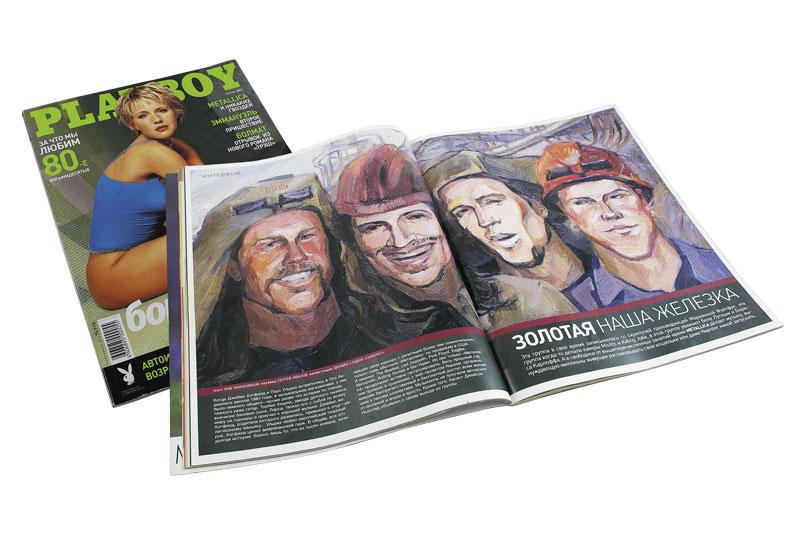 Иллюстрация для Playboy разворот журнала